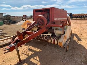 Item Details: Hesston 4600 small square baler Item Location: 78199 Johnston RD, Manchester Oklahoma. Directions: From Hwy 132 / Wakita RD Turnoff, tra