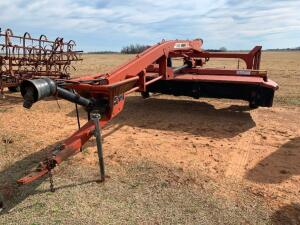 Hesston 1340 Pull-type Swather, mower conditioner, rubber crimper