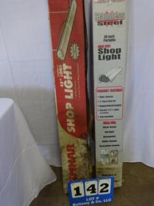"2 qty. 2 48"" Shop Lights"
